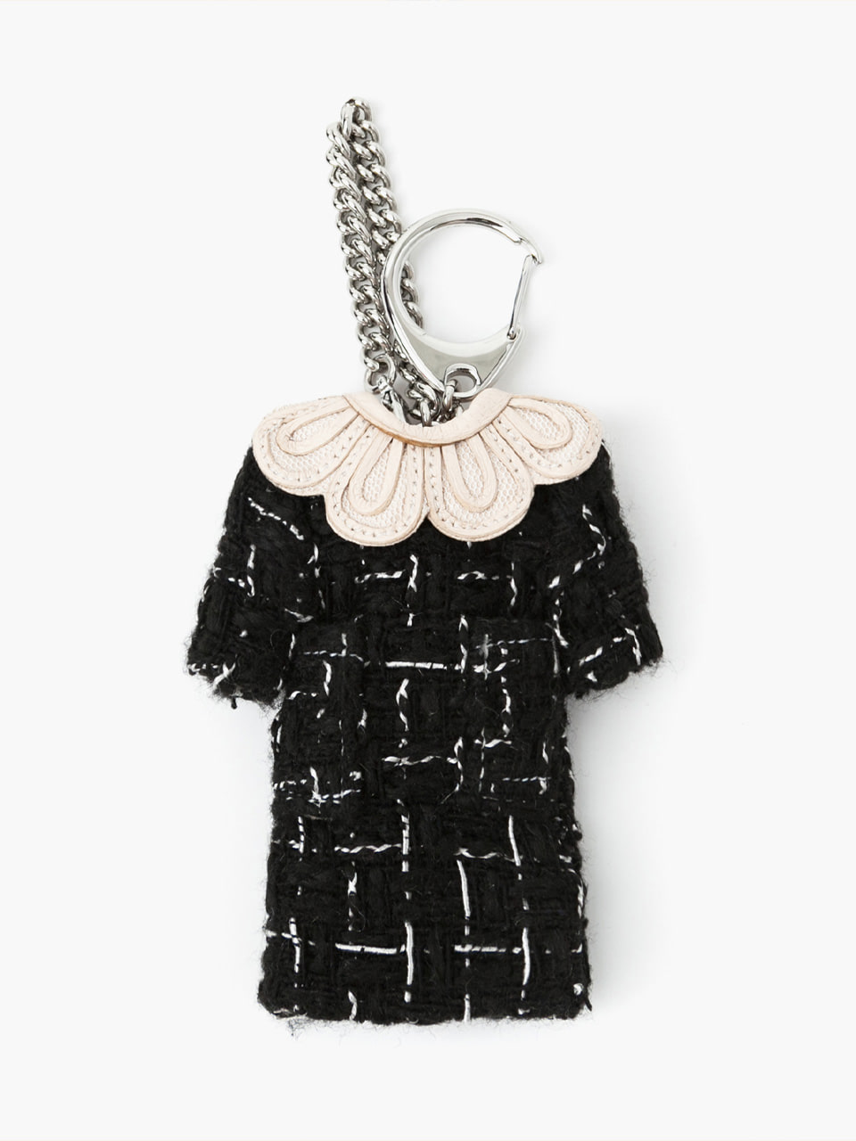 [ABCME7050M] SCALLOP COLLAR ONE-PIECE CHARM_BK